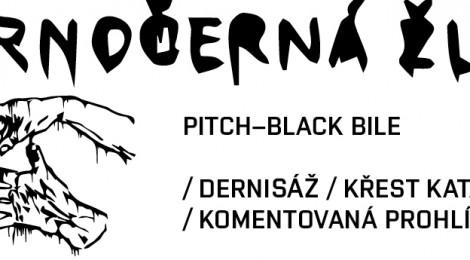 Dernisáž, křest a komentovaná prohlídka výstavou Černočerná žluč
